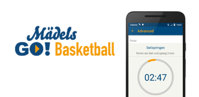 Android App 'Mädels GO! Athletik': Trainingsapp für Post SV Nürnberg Basketball